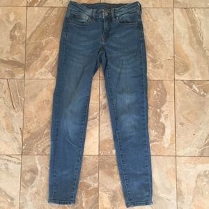 Gap Premium Super Skinny Ankle Jeans Acid Wash